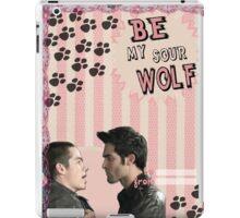 My Teenwolfed Valentine[Be My Sour Wolf] iPad Case/Skin