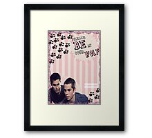 My Teenwolfed Valentine[Please Be My Sour Wolf] Framed Print