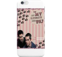 My Teenwolfed Valentine[You Are My Favourite Sour Wolf] iPhone Case/Skin