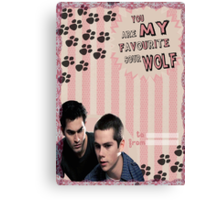 My Teenwolfed Valentine[You Are My Favourite Sour Wolf] Canvas Print