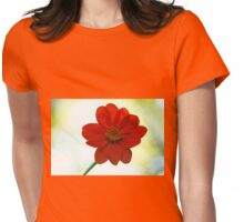 Orange Velvet Womens Fitted T-Shirt