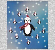 Many Penguins One Piece - Long Sleeve
