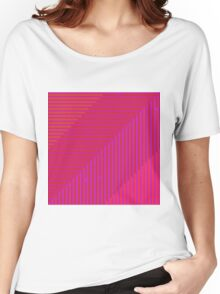 Psychedelic optical shoegaze lines Women's Relaxed Fit T-Shirt