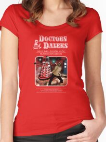 Doctors & Daleks Women's Fitted Scoop T-Shirt