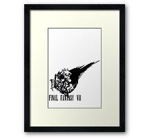 Final Fantasy VII logo Framed Print