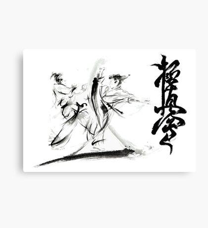 Karate Kyokushinkai Warriors Large Painting Canvas Print
