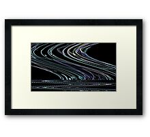Glow Edge Ripple Framed Print
