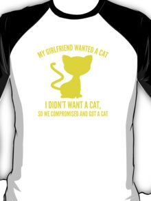 We Compromised And Got A Cat T-Shirt