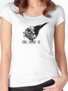 Final Fantasy VII logo 2 Women's Fitted Scoop T-Shirt