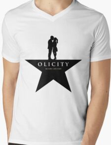 Olicity on a star Mens V-Neck T-Shirt