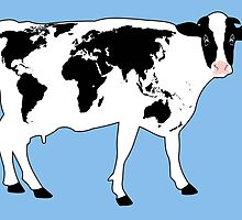 Map of the World Cow by arievanderwyst