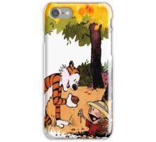 Calvin and Hobbes Treasure Hunter iPhone Case/Skin