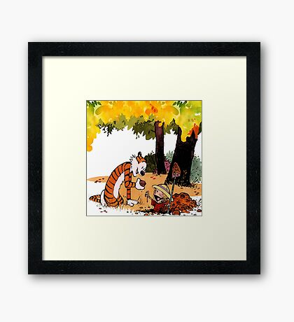Calvin and Hobbes Treasure Hunter Framed Print