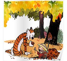Calvin and Hobbes Treasure Hunter Poster