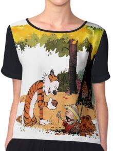 Calvin and Hobbes Treasure Hunter Chiffon Top