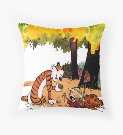 Calvin and Hobbes Treasure Hunter Throw Pillow