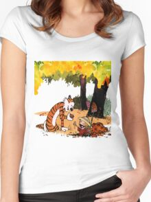 Calvin and Hobbes Treasure Hunter Women's Fitted Scoop T-Shirt