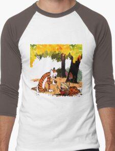 Calvin and Hobbes Treasure Hunter Men's Baseball ¾ T-Shirt
