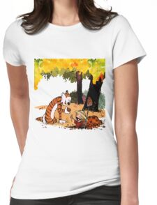 Calvin and Hobbes Treasure Hunter Womens Fitted T-Shirt