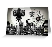 Nigthmare in the street Greeting Card