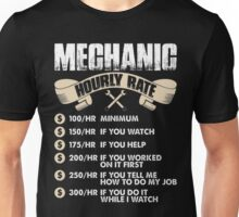 Mechanic Hourly Rate Unisex T-Shirt