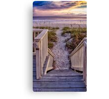 Steps to the Sunset Canvas Print