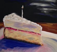 Cheesecake with Candle by John Klein