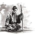 Samurai Japanese Warrior Large Poster by Mariusz Szmerdt
