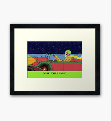 Road Trip Ready, Driving at Night Framed Print