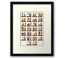 Mythical Creatures Alphabet Framed Print