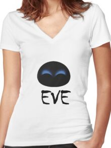 Eve Wall E Women's Fitted V-Neck T-Shirt