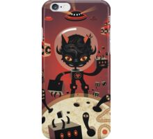 Dj Hammerhand cat - Party at OGM garden iPhone Case/Skin