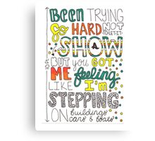 Ten Feet Tall by Afrojack Lyric Art Canvas Print