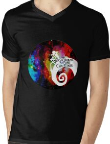 Jack Nightmare Before Christmas Moon Mens V-Neck T-Shirt