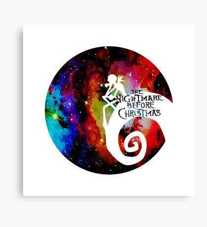 Jack Nightmare Before Christmas Moon Canvas Print