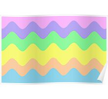 Pastel Waves Poster
