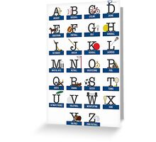 Sports and Games Alphabet Greeting Card
