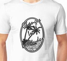 jimmy buffett changes in latitudes black and white artwork dolly Unisex T-Shirt