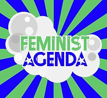 Feminist Agenda - Green and Blue by TheVerse