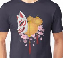 Festive Kitsune Unisex T-Shirt