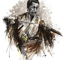 Japanese Warrior Samurai Katana Large Poster by Mariusz Szmerdt
