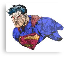 The Man of Steel Character Collage Metal Print