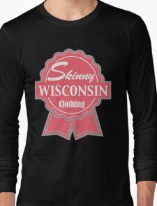 Wisconsin Skinny Pink Badge of Honor Long Sleeve T-Shirt
