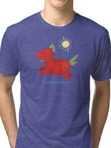 Strawberry Horse Tri-blend T-Shirt