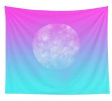 happy largest moon Wall Tapestry