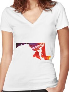 Annapolis Women's Fitted V-Neck T-Shirt