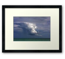 Storm cloud over Atlantic Framed Print
