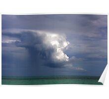 Storm cloud over Atlantic Poster