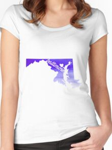 Baltimore Women's Fitted Scoop T-Shirt