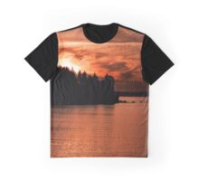 Photo of Sun Setting Over the Ocean Graphic T-Shirt